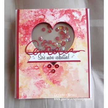 technique carte shaker box - Carte St-Valentin