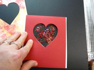 Carte de St-Valentin Shaker box