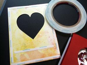 technique carte St-Valentin