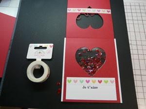 Intérieur de la carte de St-Valentin