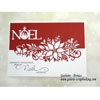 Tutoriel carte de noel - Matrice die bordure Poinsettia