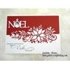 Tutoriel carte de noel - Matrice die bordure Poinsettia