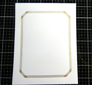 Glimmer Hot Foil  Gilded nested rectangles Spellbinders