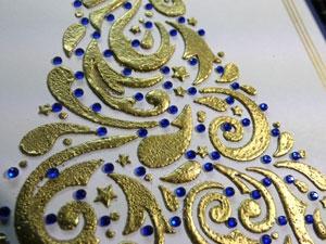 Bijoux sur carte de souhait