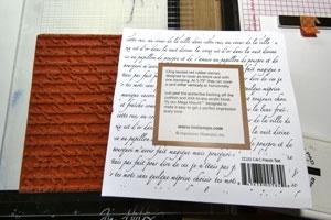 Étampe Texte en français