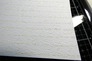 poudre d'embossage blanche
