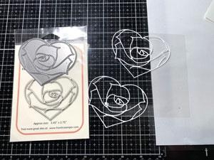 Matrice de découpes Heart Rose de Frantic Stamper