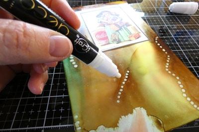 papier métallique sur fond alcohol pearl