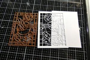 Technique faux vitrail