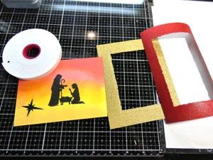 Montage carte avec cadre