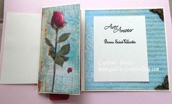 Modèle carte St Valentin