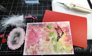 Montage carte papier de riz