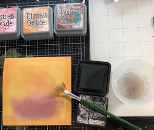 Effet avec pinceau éventail