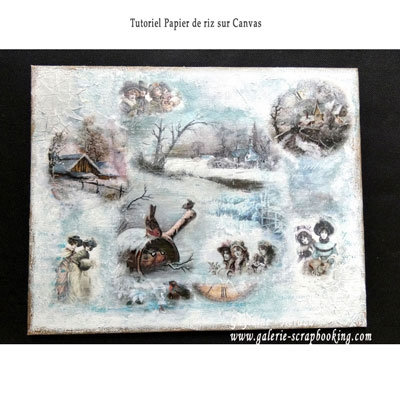 Papier de riz LTD Collection sur canvas